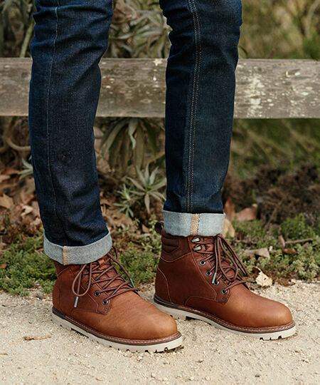Shoes featured: Men's Peanut Brown Waterproof Ashland Boots