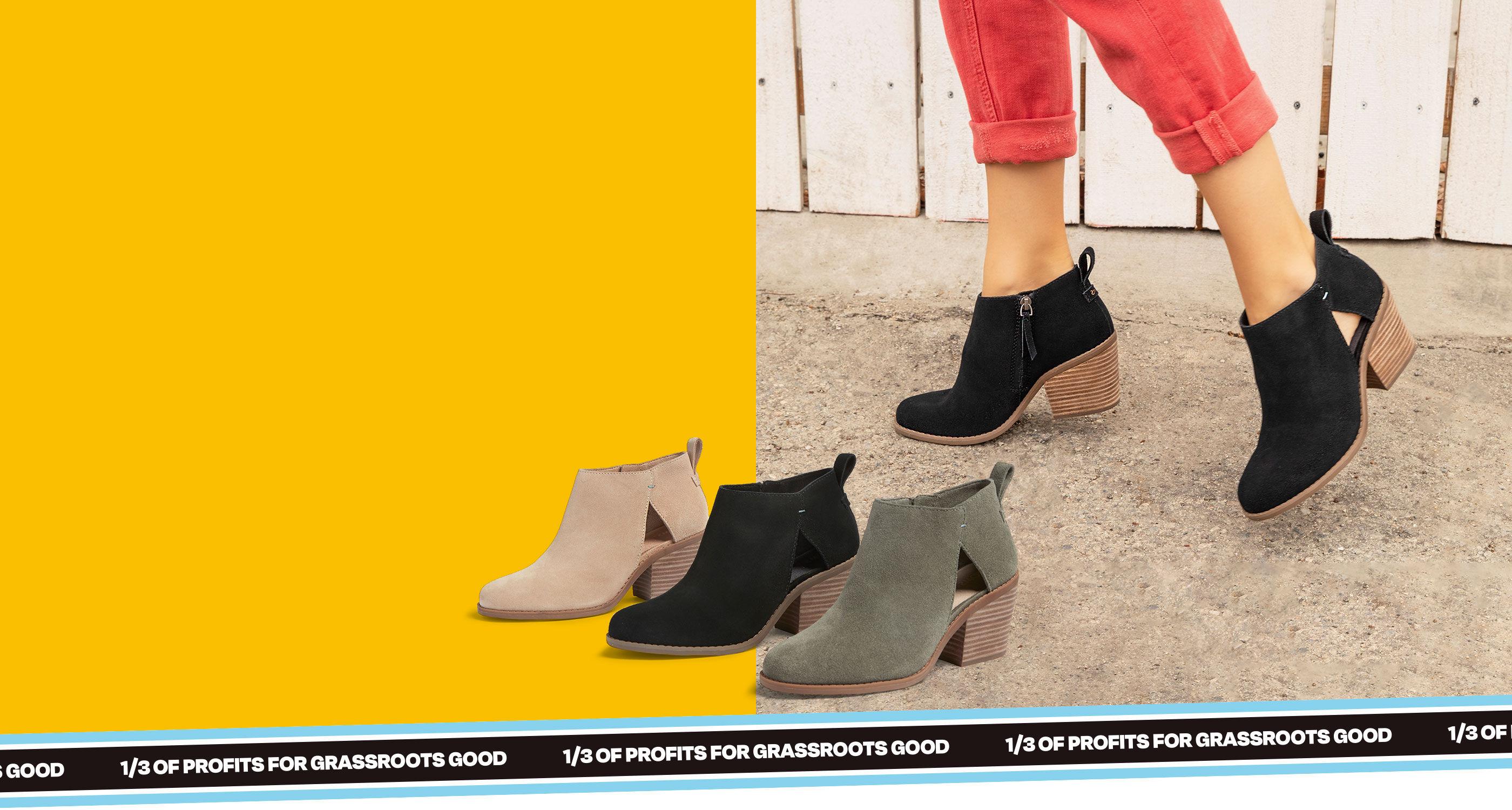 Women's Lea Bootie in various colors shown.