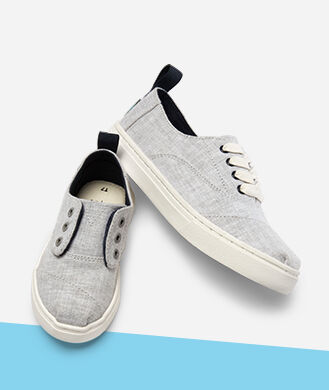 Kids' drizzle grey sneakers.