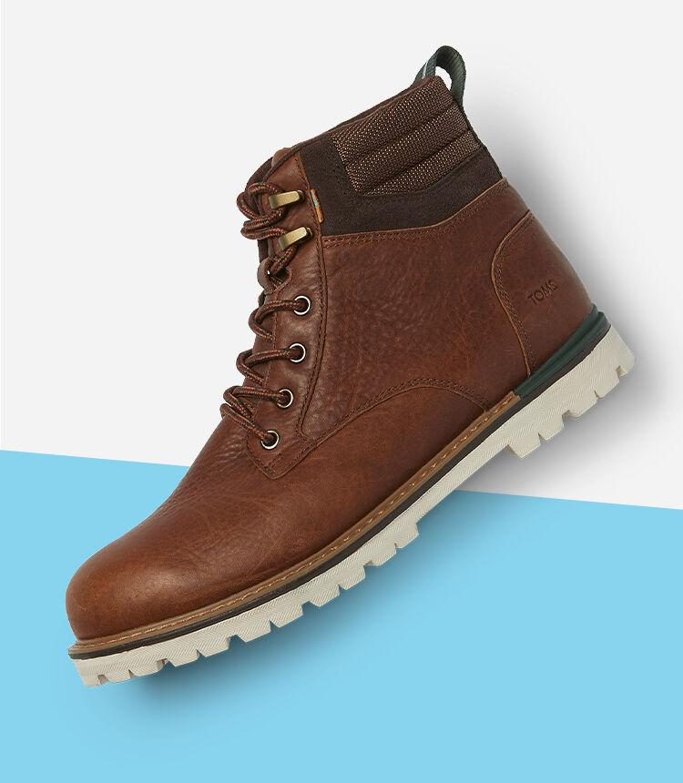 Men's Ashland Boot in topaz brown shown.