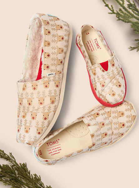 Shoes featured: Women's, Youth, and Tiny Reindeer Classic Alpargatas