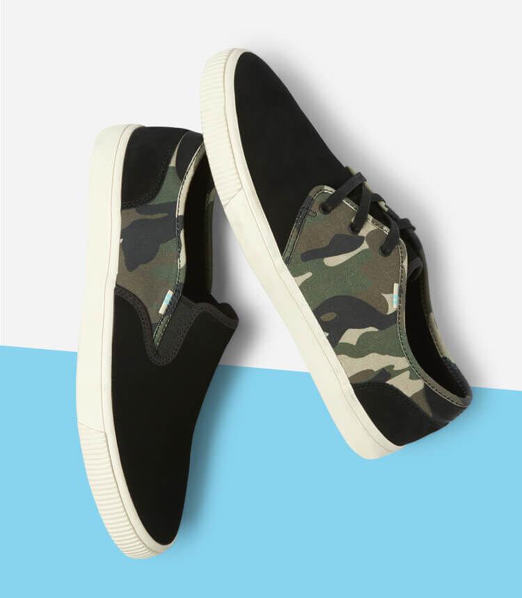 Men's Camo Sneakers shown.