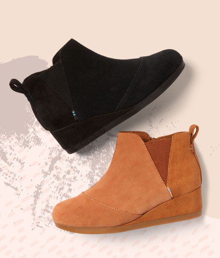Shoes featured: Youth Kelsey Bootie in black and carmel colorways.