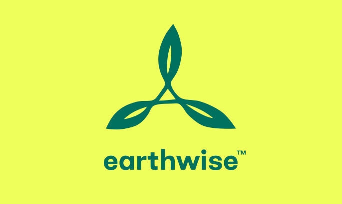 TOMS earthwise logo. Trademark symbol.