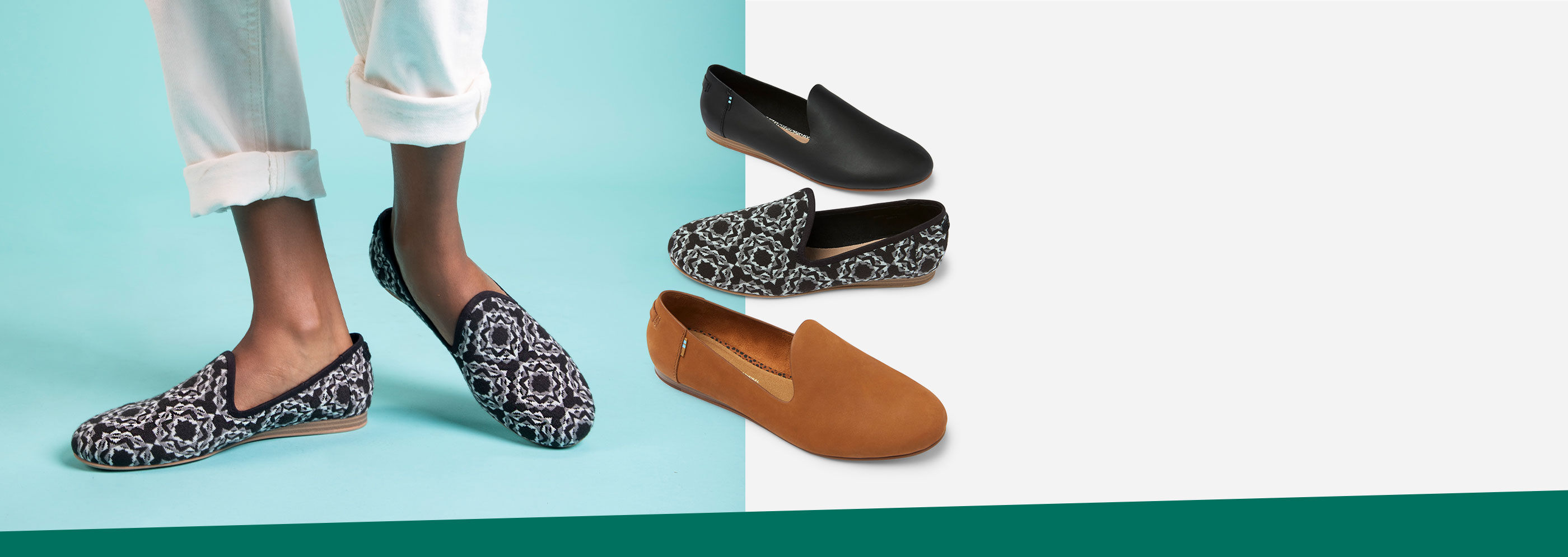 Women's Darcy Flat in various colors shown.
