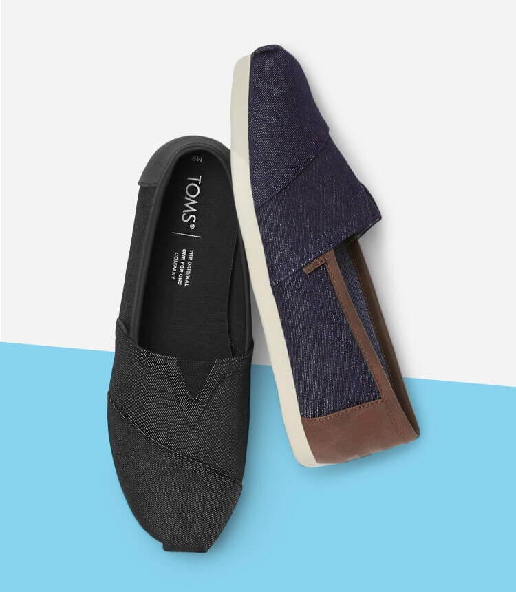 Men's Alpargata Synthethic Trim in blue and black shown.