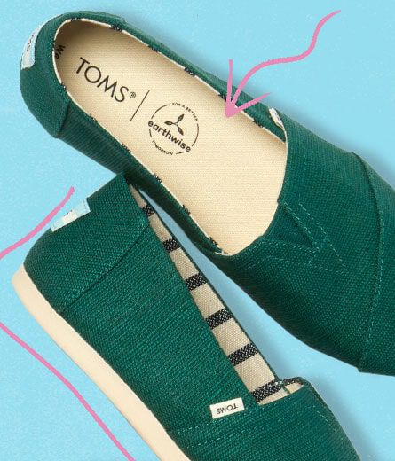 Graphic arrow point to insole of Heritage Canvas CloudBound Alpargatas.