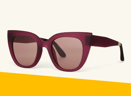 Sydney sunglasses in matte berry.