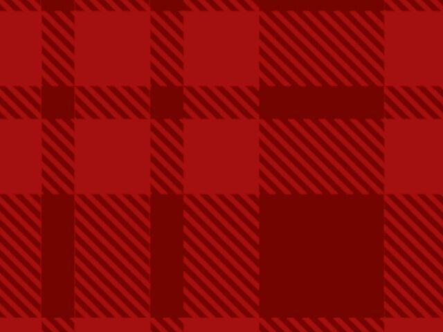 Red plaid background.