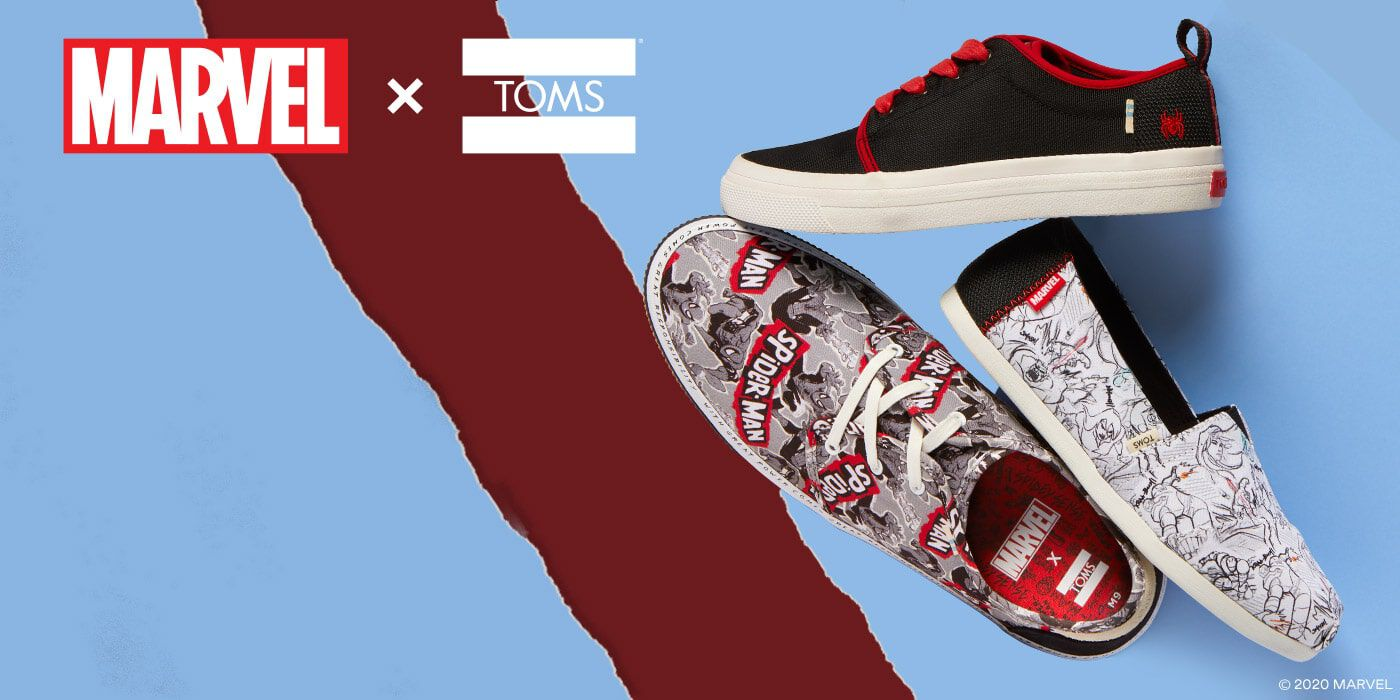 MARVEL x TOMS. A limited–edition collection inspired by some of Marvel's most beloved Super Heroes–for super humans creating change through the power of their purchase. Shop the Collection.