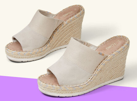 Women's Monica mule wedge heels.