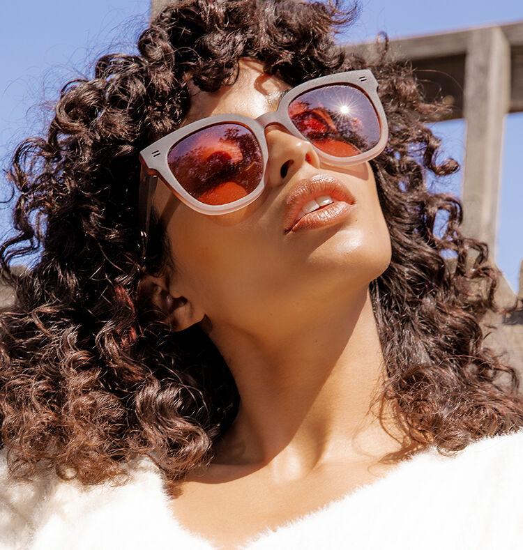 Juniper Sunglasses in matte ombre shown.