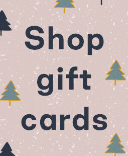 Tree illustration with text: Shop gift cards.