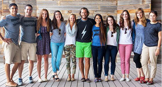 TOMS Interns with our founder, Blake