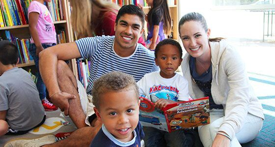 TOMS Interns helping kids in the community