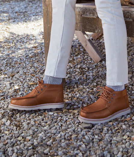 Shoes featured: Men's Chukka Boots.