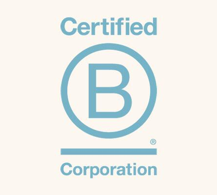 Certified B Corporation logo.