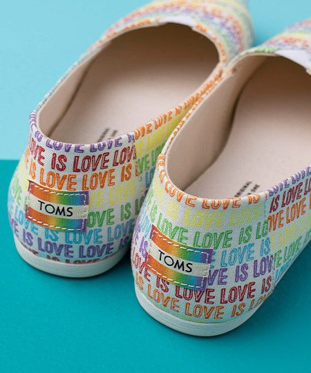 Pair of Love is Love Classic Alpargata Shoes