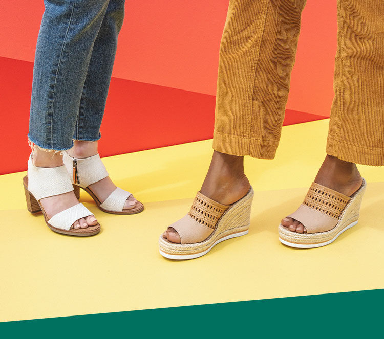 Majorca Cutout and Monica Mule women sandals shown.