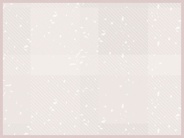 Speckled and plaid graphic background with pink border.