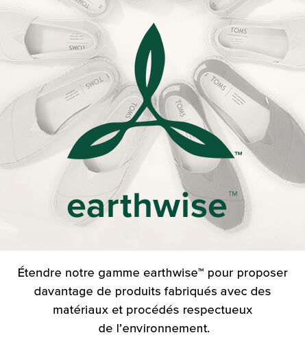 greyscale background of toms shows with the earthwise logo in green on the foreground