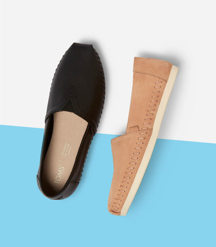 Women's Alpargata Leather in Black and Honey shown.