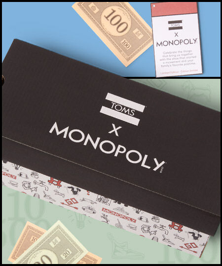 TOMS x Monopoly exclusive packaging box