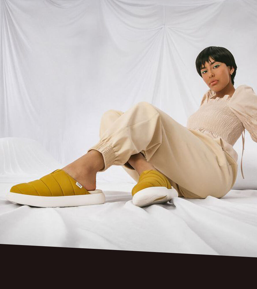 Featured image for Hypebae press article showing Women's Alpargata Mallow Mule in Dark Mustard.
