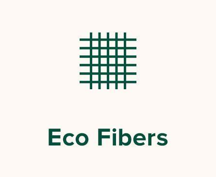 Fibers illustration. Text: Eco Fibers.