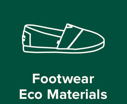 Shoe illustration. Text: Footwear Eco Materials.