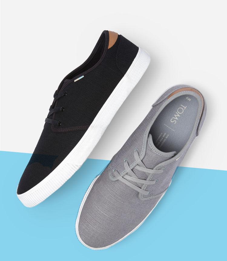 Men's Carlo Sneakers in grey and black shown.
