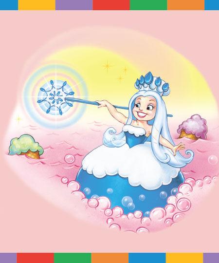 Frostine Candy Land Illustration