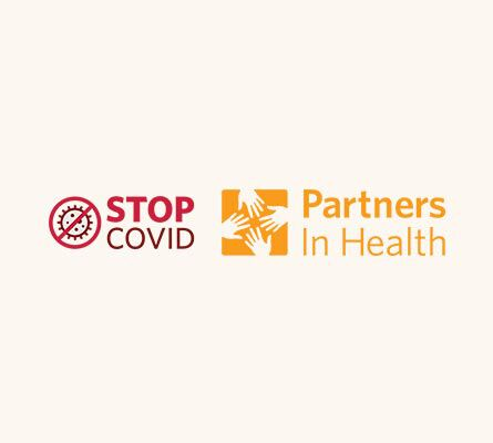 Stop COVID x Partners in Health Logo