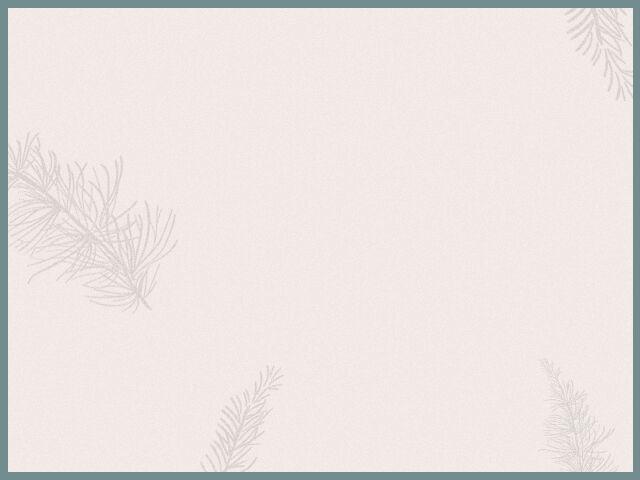 Pine leaves graphic background with green border.