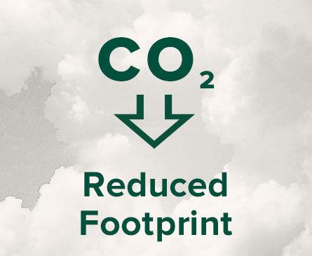 reduced carbon footprint logo