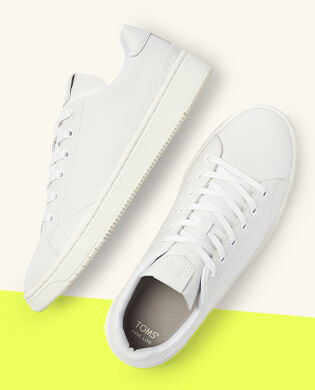 Shoes Featured: Men's White Carlson Sneakers