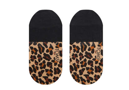 Ultimate No Show Socks Leopard