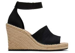 Black Marisol Wedge Heel Sandal