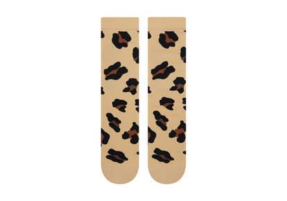 Light Cushioned Crew Socks Leopard