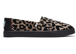Flocked Leopard Cupsole Alpargata