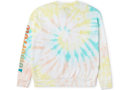 TOMORROW Rainbow Tie Dye Crew Fleece