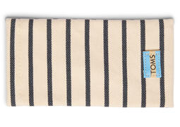 TRAVELER Riviera White and Navy Stripe Sunglasses Case