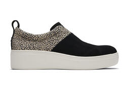 Black Suede Cheetah Amber Slip-On