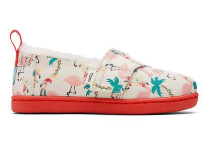 Tiny Alpargata Holiday Flamingos
