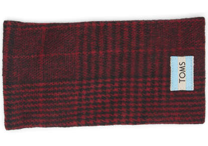 TRAVELER Red Abstract Plaid Sunglasses Case