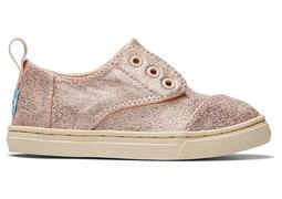 Tiny Rose Gold Metallic Cordones Sneaker