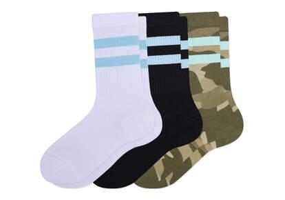 Light Cushioned  Crew  Socks Multi Print 3 Pack