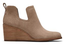 Taupe Suede Kallie Wedge Bootie
