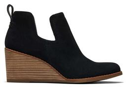 Black Suede Kallie Wedge Bootie