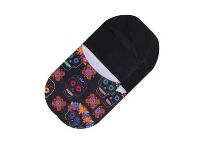 Ultimate No Show Socks Dia De Los Muertos